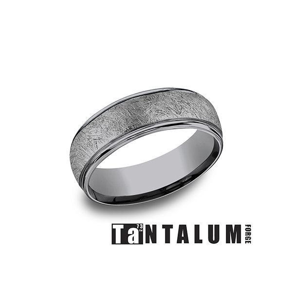 Men's Grey Tantalum Wedding Band Texas Gold Connection Greenville, TX