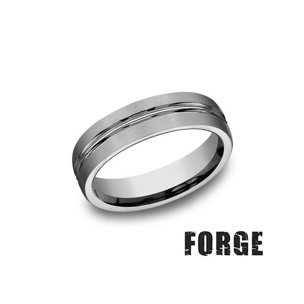 Men's Tungsten Wedding Band Texas Gold Connection Greenville, TX
