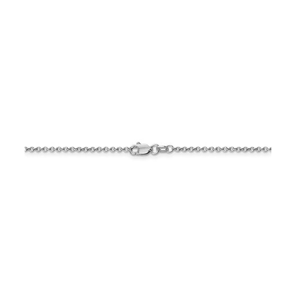 14k WG 1.4mm Cable Chain Image 4 Texas Gold Connection Greenville, TX