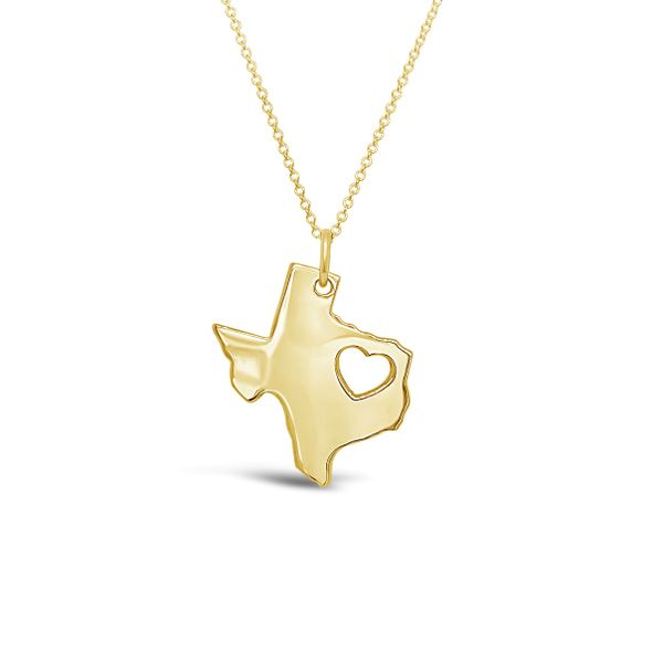 14K Yellow Gold Heart of Texas Necklace Texas Gold Connection Greenville, TX