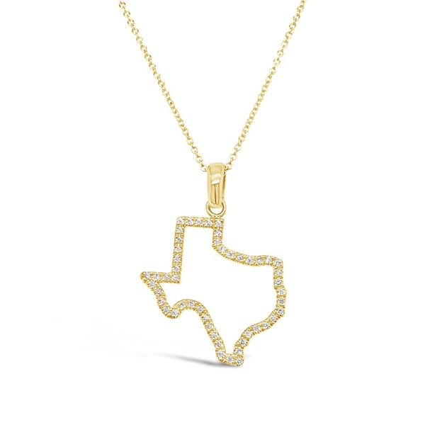 Lady's 14K Yellow Gold Diamond Texas Necklace Texas Gold Connection Greenville, TX