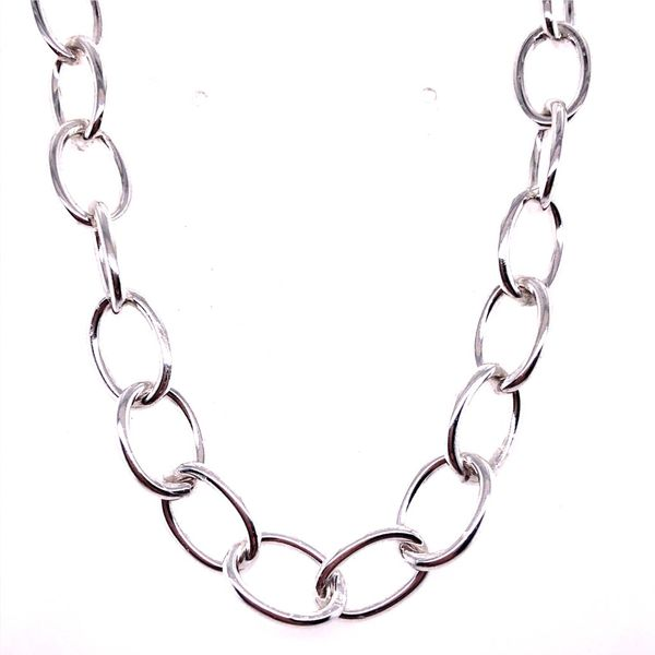 Sterling Silver Small Chain Link Necklace 20