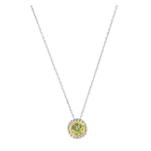 Lady's Peridot Sterling Silver Birthstone Necklace Texas Gold Connection Greenville, TX