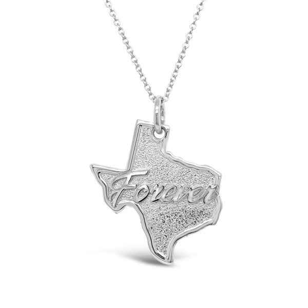 Lady's Sterling Silver Texas Forever Pendant Necklace Texas Gold Connection Greenville, TX