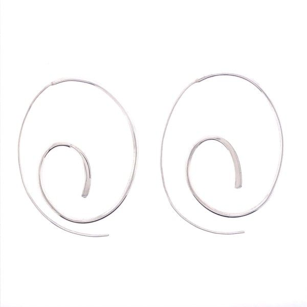 Sterling Silver Spiral French Wire Earrings Texas Gold Connection Greenville, TX