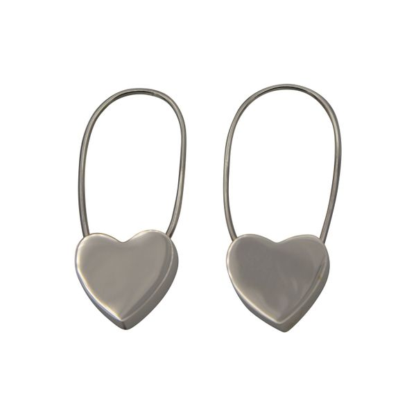 Sterling Silver Heart Hoops Texas Gold Connection Greenville, TX