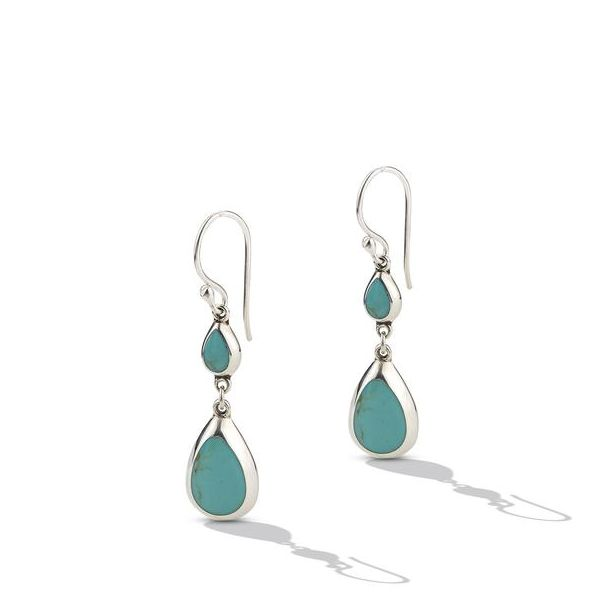 Sterling Silver Turquoise Double Drop Earrings Texas Gold Connection Greenville, TX