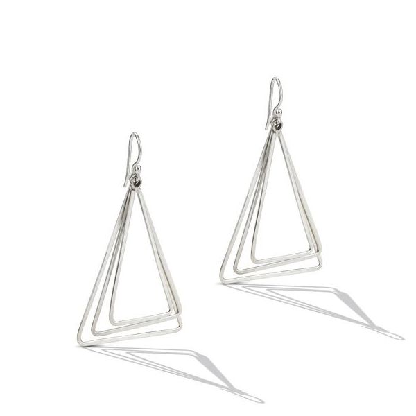 Sterling Silver Triangle Chandelier Drop Earrings Texas Gold Connection Greenville, TX