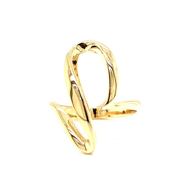 PRE-OWNED 14K Yellow Gold Free Form Ring Texas Gold Connection Greenville, TX