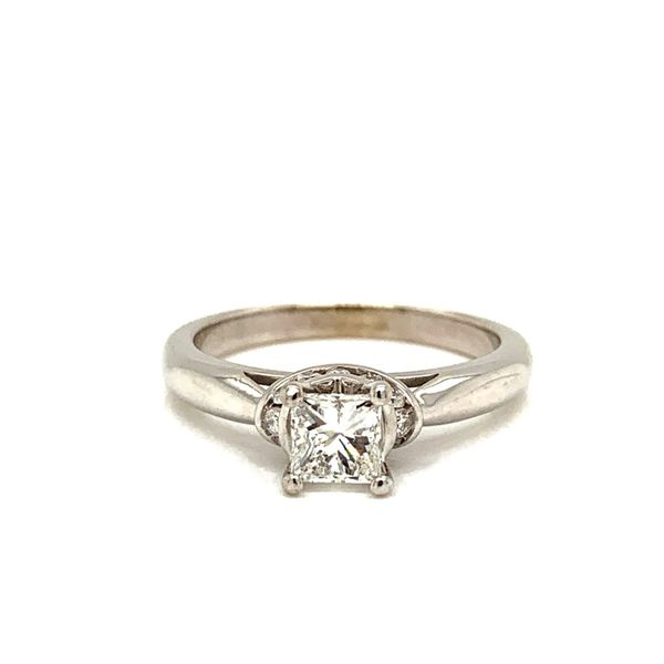 PRE-OWNED 14K White Gold Princess Cut Diamond Engagement Ring Texas Gold Connection Greenville, TX