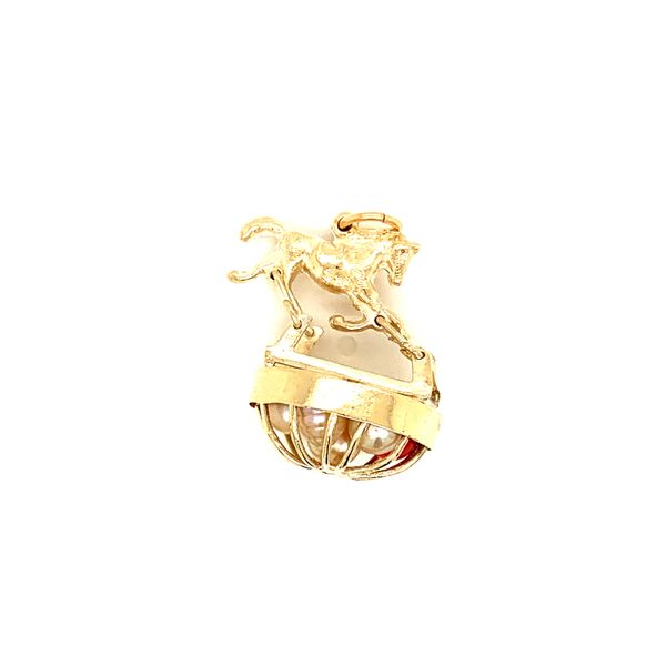 PRE-OWNED 14K Yellow Gold Rocking Horse Charm Texas Gold Connection Greenville, TX