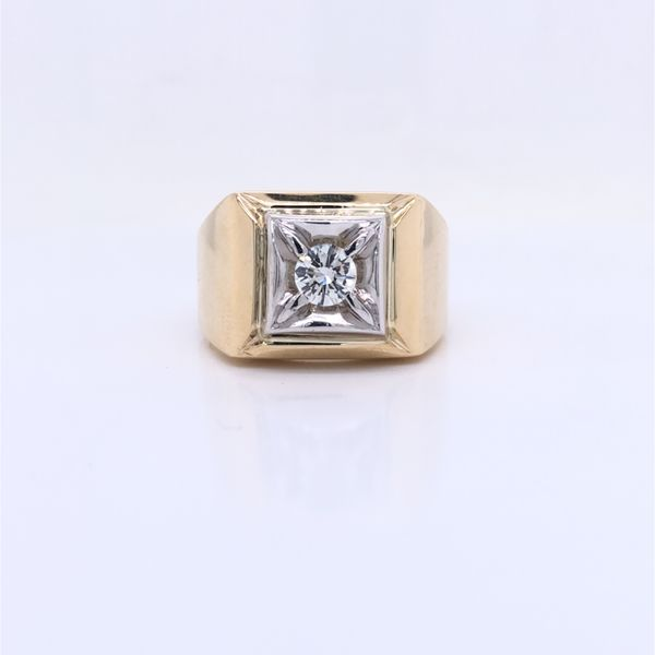 PRE-OWNED 3/8ct Gents Ring Texas Gold Connection Greenville, TX