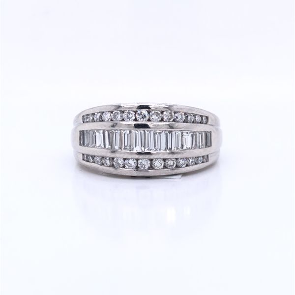 PRE-OWNED Platinum Anniversary Band With 1.00 TDW Texas Gold Connection Greenville, TX