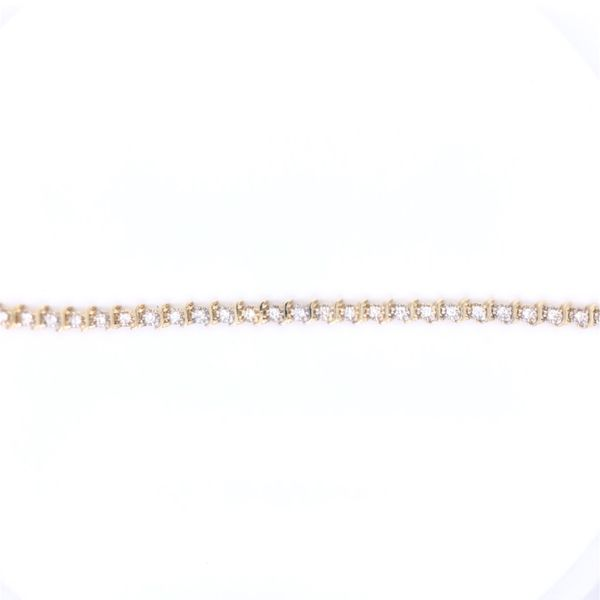 PRE-OWNED 14K Yellow Gold Diamond Tennis Bracelet Texas Gold Connection Greenville, TX