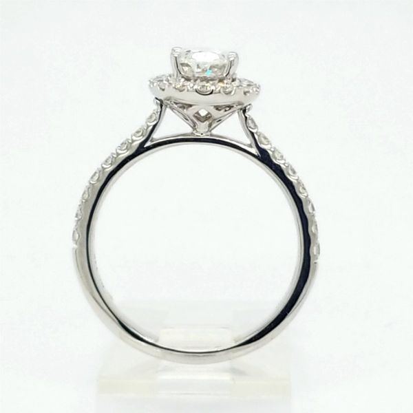 14kt WG 1.50ct TW Lab Grown Oval Diamond Engagement Ring Image 2 Carroll's Jewelers Doylestown, PA