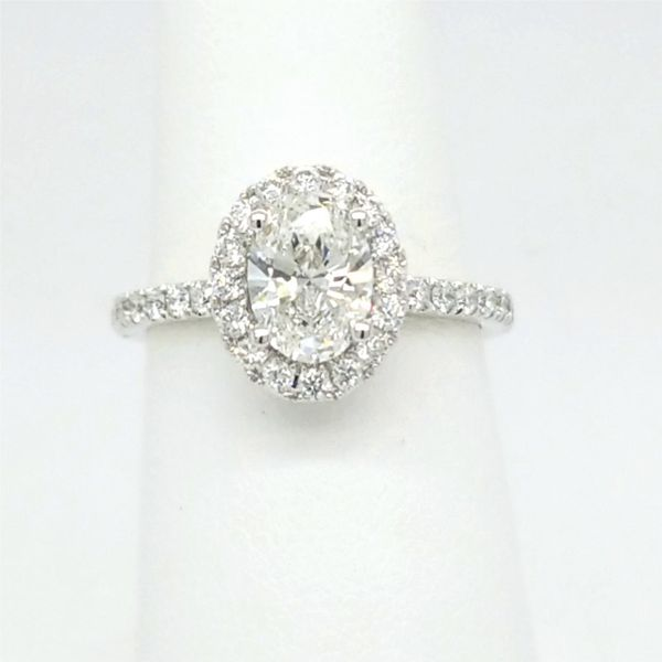 14kt WG 1.50ct TW Lab Grown Oval Diamond Engagement Ring Carroll's Jewelers Doylestown, PA