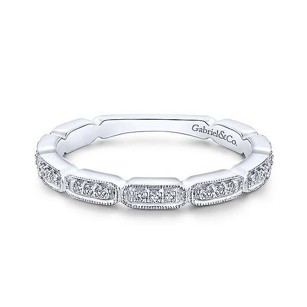 14kt WG .15ct TW diamond band Carroll's Jewelers Doylestown, PA