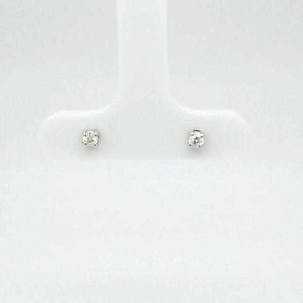 14kt WG .10ct TW Diamond Studs Carroll's Jewelers Doylestown, PA
