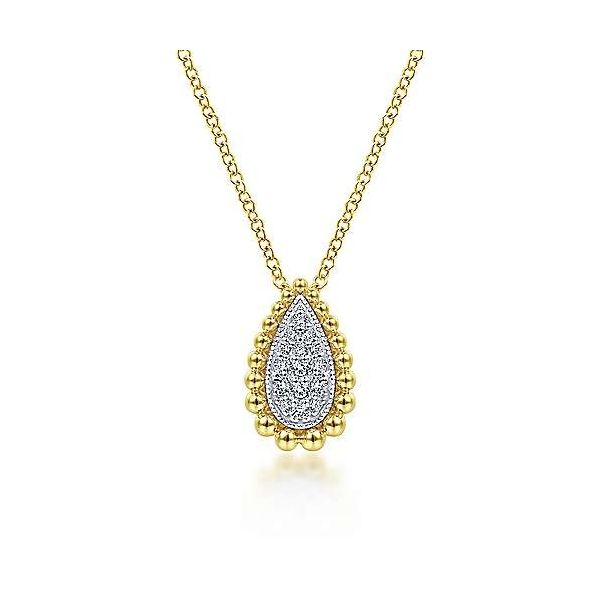 14kty YG Diamond Teardrop Pendant Carroll's Jewelers Doylestown, PA