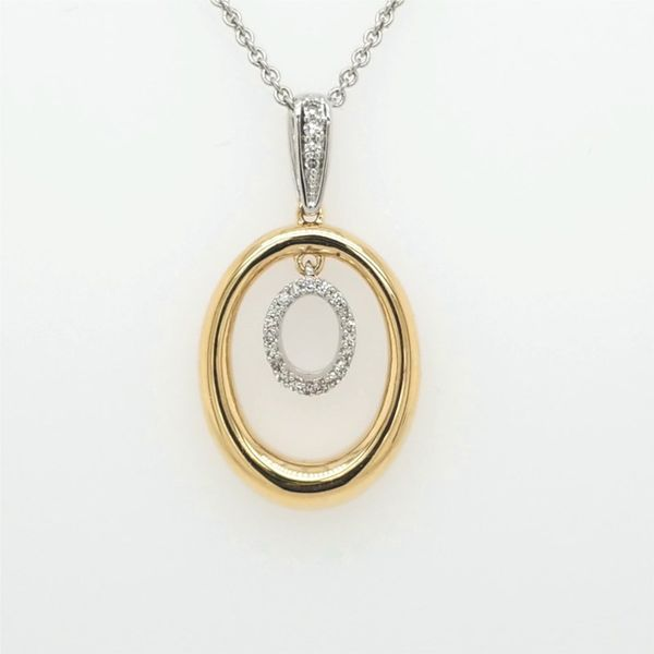 14kt Two Tone .10ct TW Diamond Pendant Carroll's Jewelers Doylestown, PA