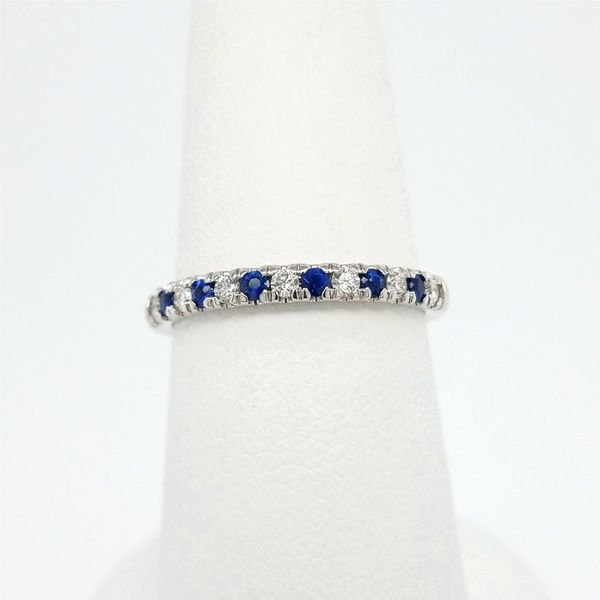 14kt White Gold Sapphire and Diamond Ring Carroll's Jewelers Doylestown, PA