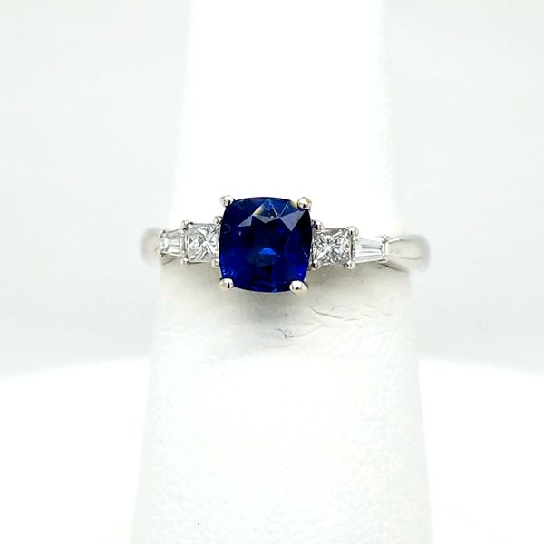 18kt WG Sapphire and Diamond Ring Carroll's Jewelers Doylestown, PA