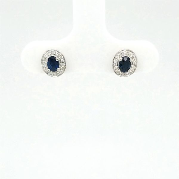18kt WG Sapphire and Diamond Earrings Carroll's Jewelers Doylestown, PA