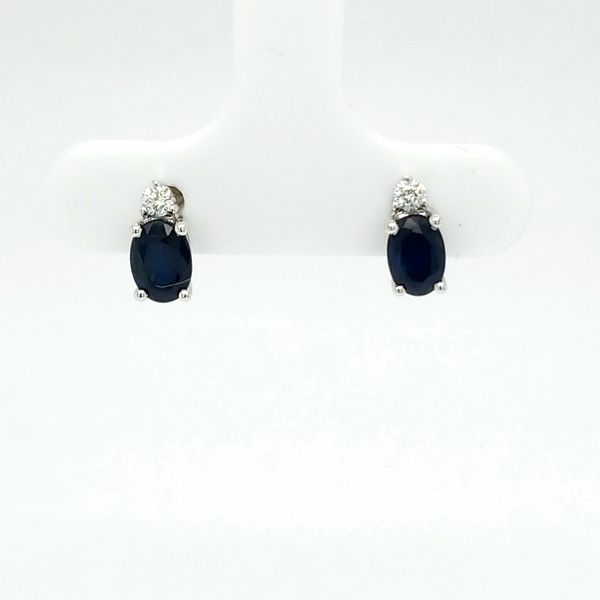 14kt WG Sapphire and Diamond Earrings Carroll's Jewelers Doylestown, PA