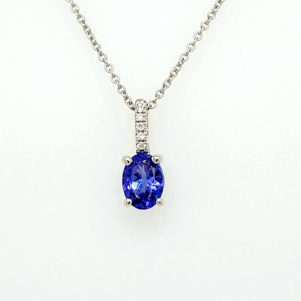 14kt WG Tanzanite and Diamond Pendant Carroll's Jewelers Doylestown, PA