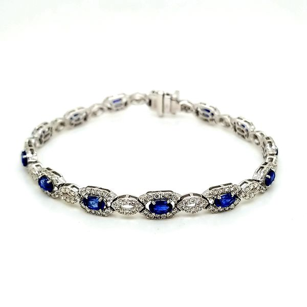 14kt WG Sapphire and Diamond Bracelet Image 2 Carroll's Jewelers Doylestown, PA