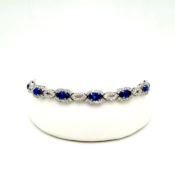 14kt WG Sapphire and Diamond Bracelet Carroll's Jewelers Doylestown, PA