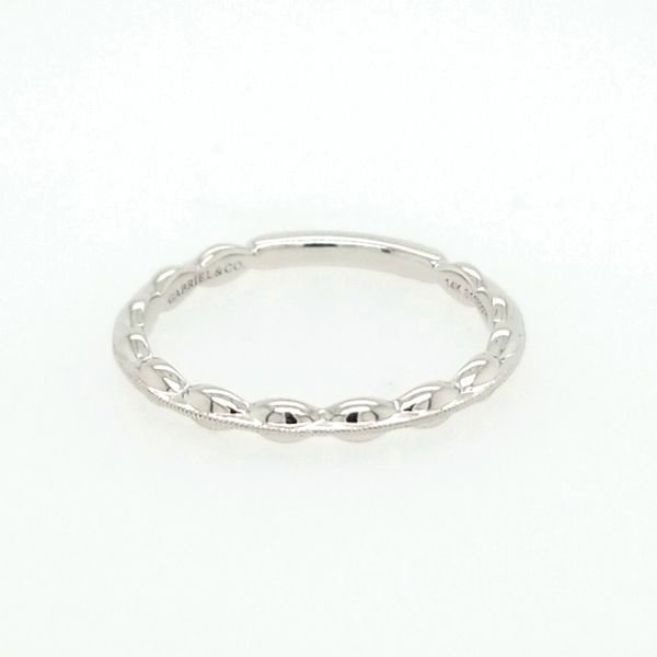 14kt WG stacking ring. Carroll's Jewelers Doylestown, PA