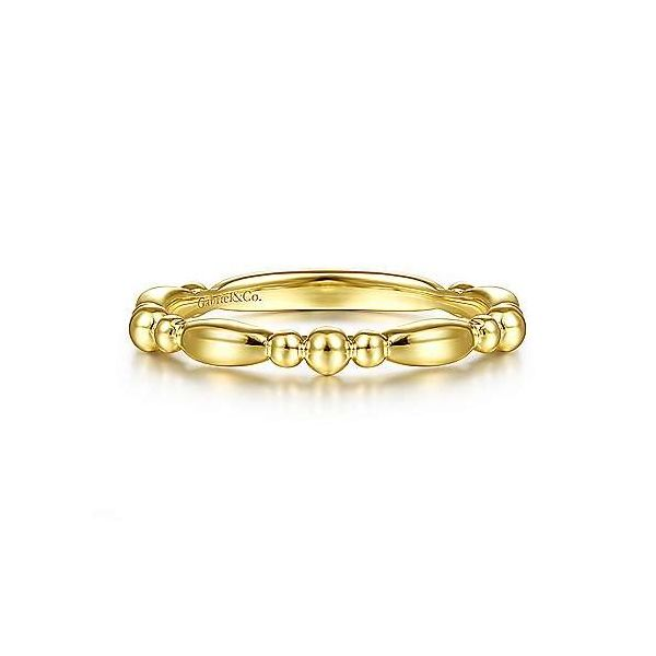 14kt YG Bead Stacking Ring Carroll's Jewelers Doylestown, PA
