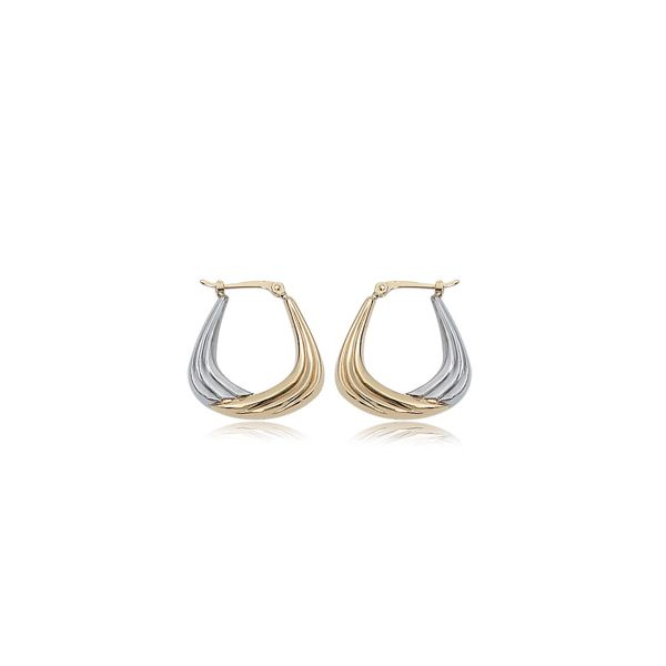 14kt Two Tone Hoop Earrings Carroll's Jewelers Doylestown, PA
