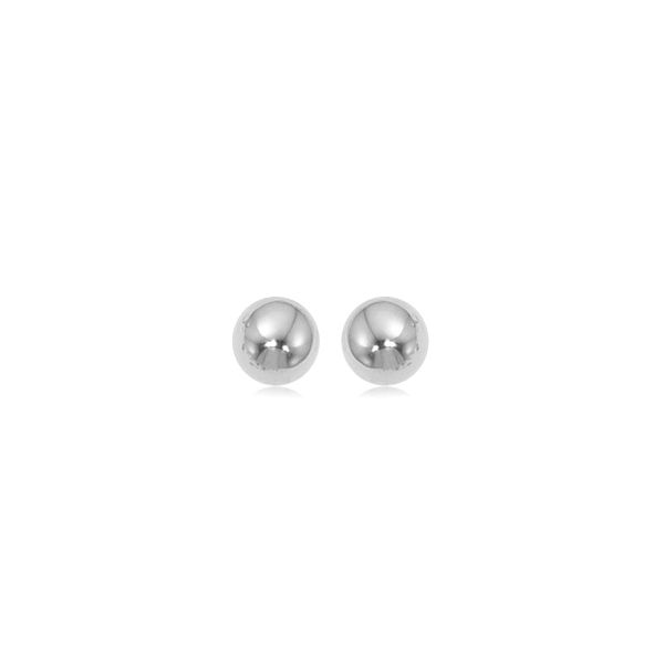 14kt WG 8mm Ball Stud Earrings Carroll's Jewelers Doylestown, PA
