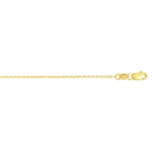 14kt YG .8mm solid Diamond Cut Cable Chain  18