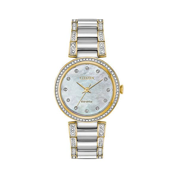 Citizen Two Tone Stainless Steel Crystal Dress Watch Carroll's Jewelers Doylestown, PA