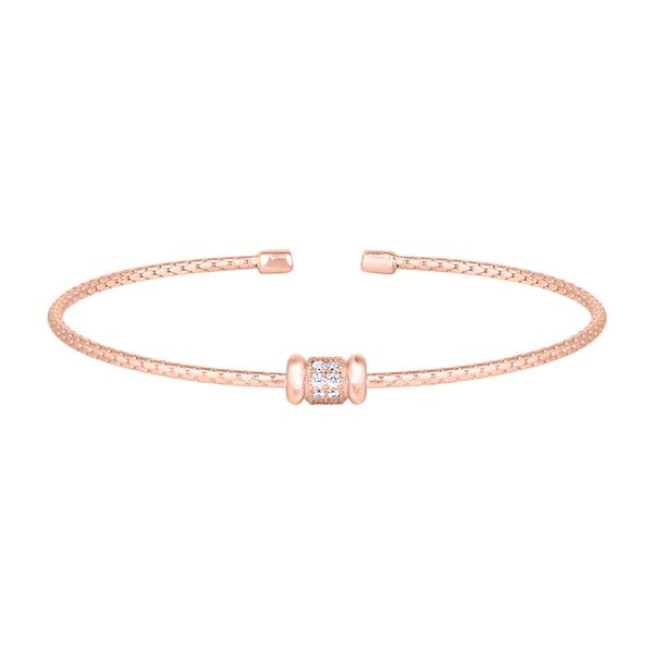 SS with Rose Gold Finish Flexible Cable Bracelet Carroll's Jewelers Doylestown, PA