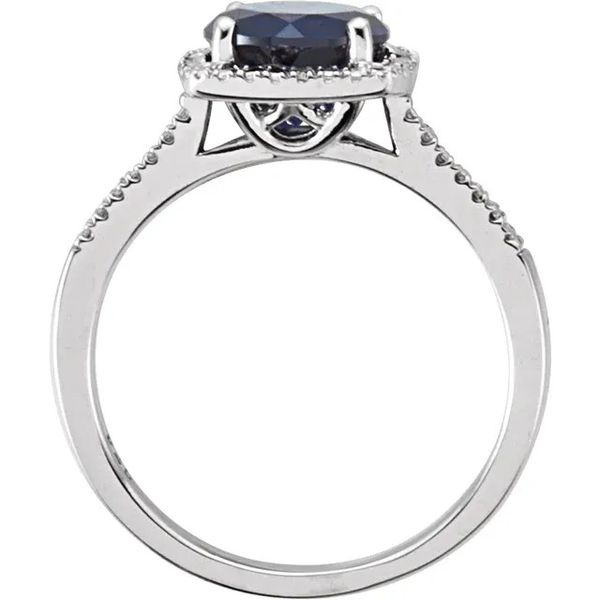 SS February Birthstone Ring with Lab Created Sapphire Image 2 Carroll's Jewelers Doylestown, PA