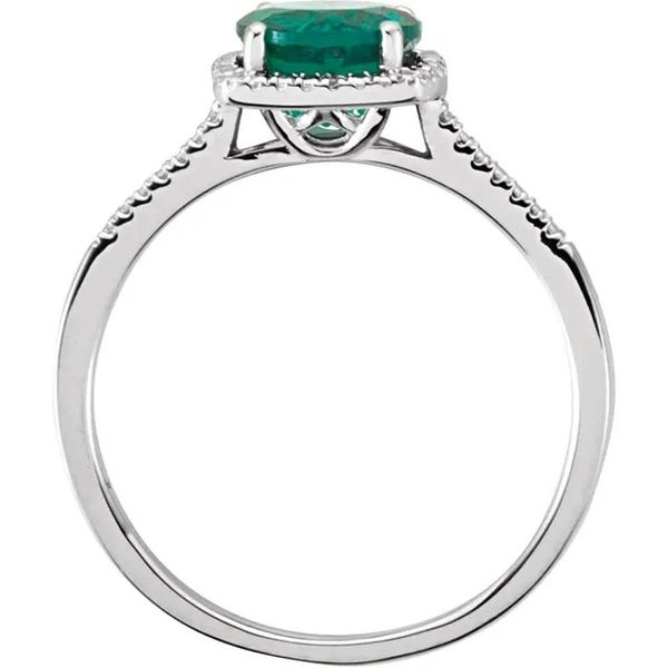 SS May Birthstone Ring with Lab Created Emerald Image 2 Carroll's Jewelers Doylestown, PA