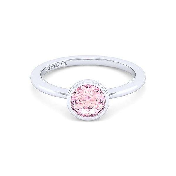 SS Pink Zircon Ring Carroll's Jewelers Doylestown, PA