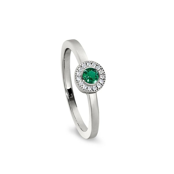 SS Simulated Emerald May Birthstone ring Carroll's Jewelers Doylestown, PA