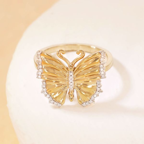 Yellow over Sterling butterfly ring Carroll's Jewelers Doylestown, PA