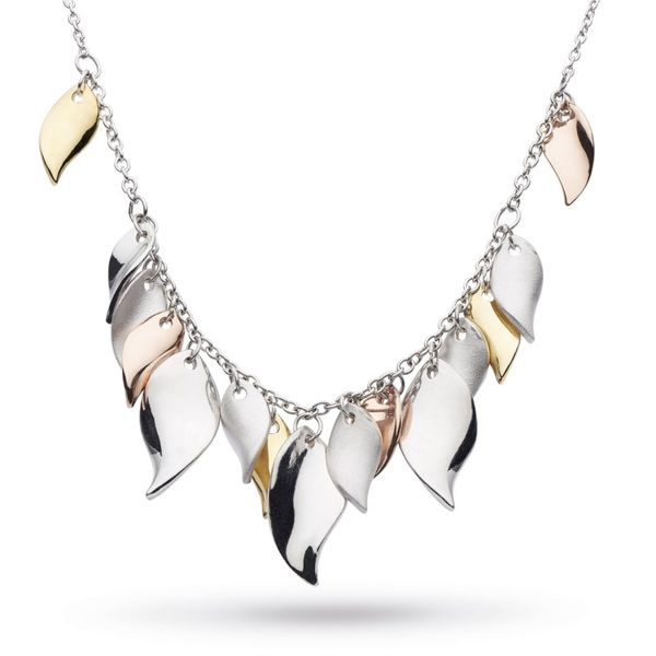 Sterling Silver Dangle Leaf Necklace Carroll's Jewelers Doylestown, PA