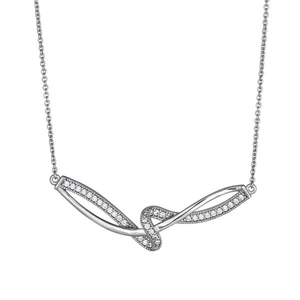 SS Ribbon Swirl Necklace Carroll's Jewelers Doylestown, PA