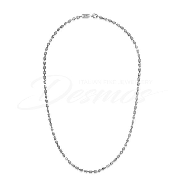 SS oval Bead necklace 18