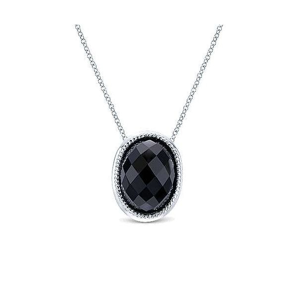 SS Faceted Onyx Pendant Carroll's Jewelers Doylestown, PA