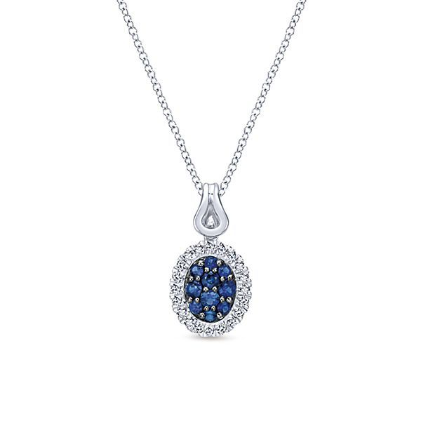 SS Blue and White Sapphire Pendant Carroll's Jewelers Doylestown, PA