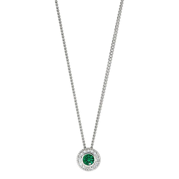 SS Simulated Emerald May Birthstone Pendant Carroll's Jewelers Doylestown, PA