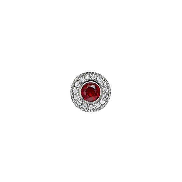 SS Simulated Garnet January Birthstone Charm Carroll's Jewelers Doylestown, PA